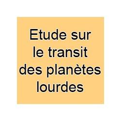 Etude sur le transit d'une des planètes lourdes